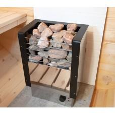 Электрическая печь (электрокаменка) «Fiva» ЭКМ-6 нерж. для сауны и бани, 6кВт