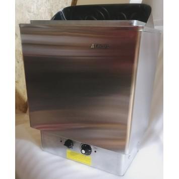 """Электрокаменка ЭКМ 9 кВт """"LUX Плюс"""" (нержавеющая сталь) со встроенным пультом управления"""